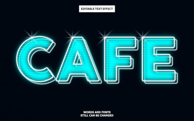 Effetto di testo modificabile in stile cafe