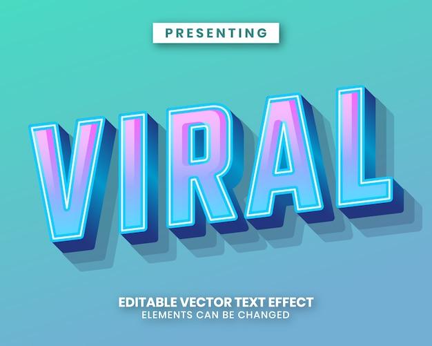 Effetto di testo modificabile moderno con gradiente di colore vibrante