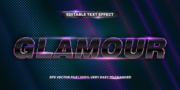 Effetto di testo modificabile, parola glamour