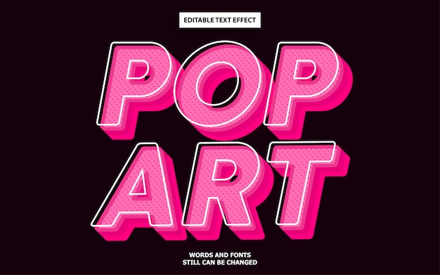 Effetto di testo modificabile pop art
