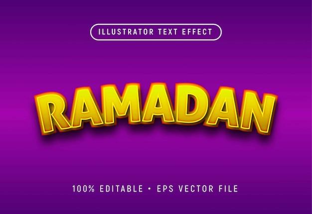 Effetto di testo modificabile ramadan