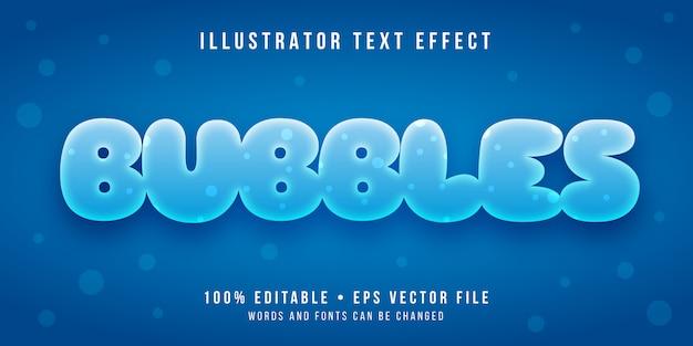 Effetto di testo modificabile - stile bolle