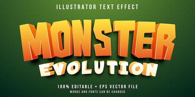 Effetto di testo modificabile - stile di gioco cattura mostri