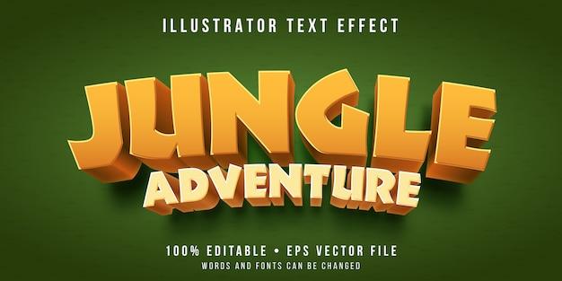 Effetto di testo modificabile - stile di gioco nella giungla