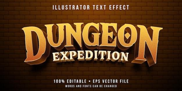 Effetto di testo modificabile - stile di gioco sotterraneo