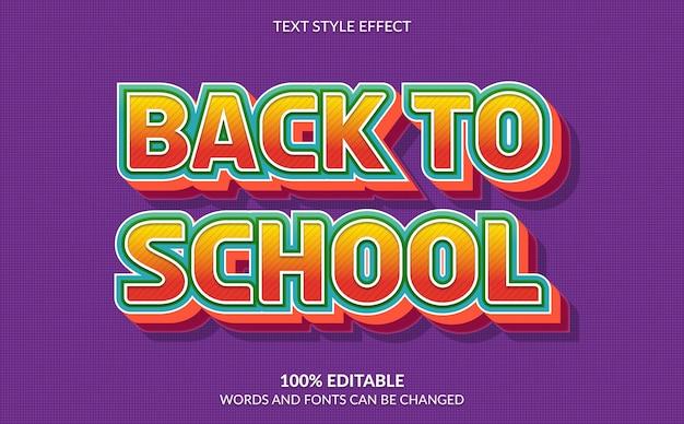 Effetto di testo modificabile, stile di ritorno a scuola
