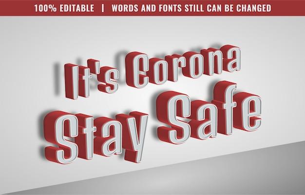 Effetto di testo modificabile - stile di testo di coronavirus