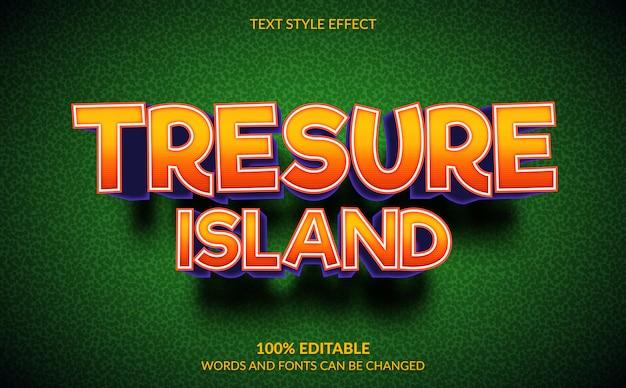 Effetto di testo modificabile, stile di testo per videogiochi tresure island