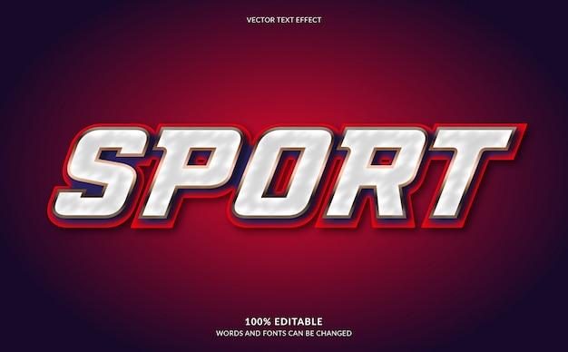 Effetto di testo modificabile, stile di testo sport moderno