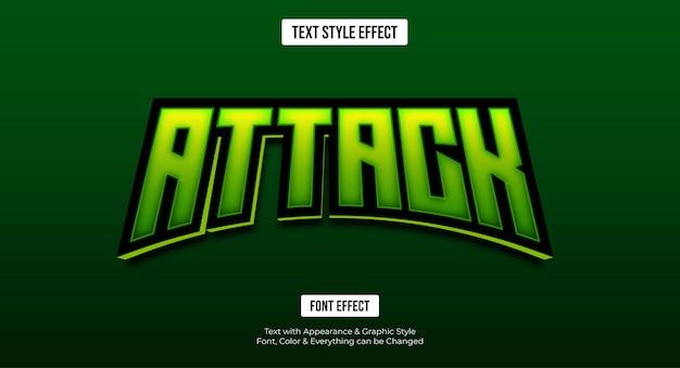 Effetto di testo modificabile - stile e-sport verde