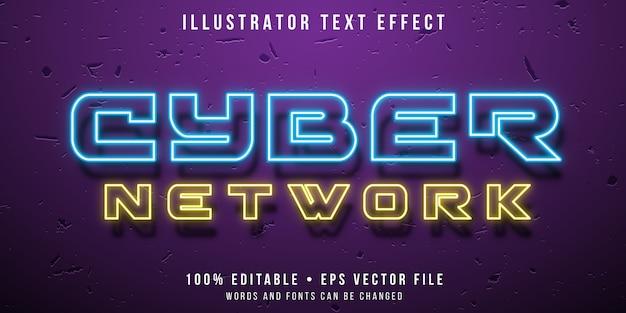 Effetto di testo modificabile - stile neon cyber text