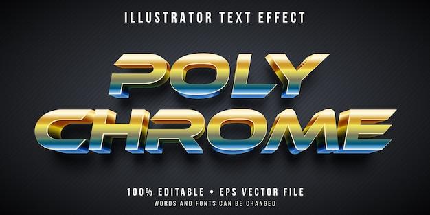Effetto di testo modificabile - stile policromo metallico