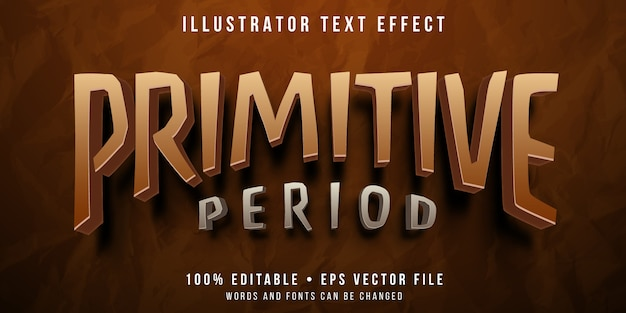 Effetto di testo modificabile - stile primitivo