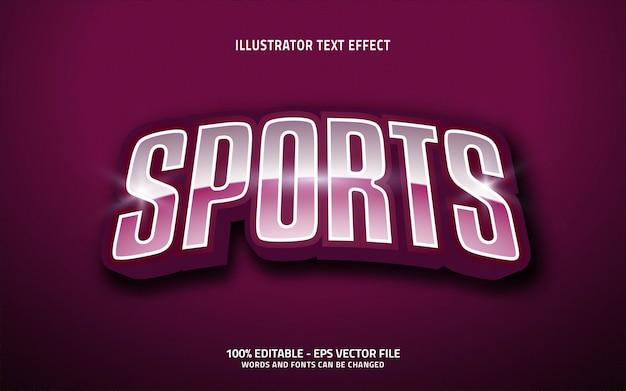 Effetto di testo modificabile, stile sportivo