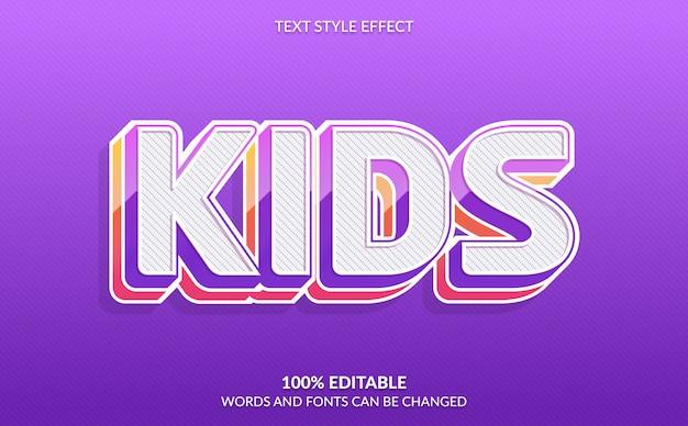Effetto di testo modificabile, stile testo per bambini