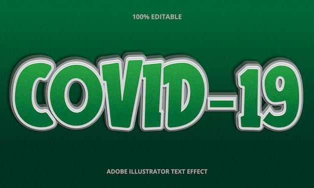 Effetto di testo modificabile - stile titolo covid-19 verde