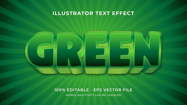 Effetto di testo modificabile - stile verde