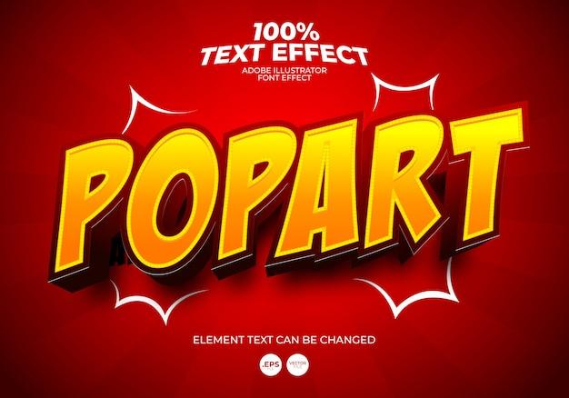 Effetto di testo pop art