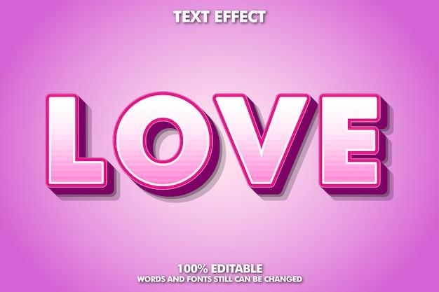 Effetto di testo rosa moderno carino