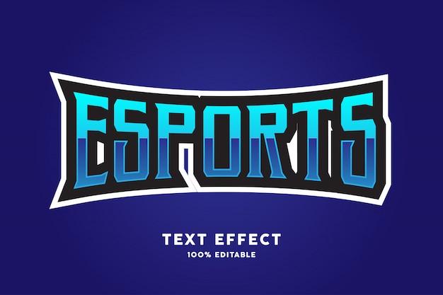 Effetto di testo stile esports blu