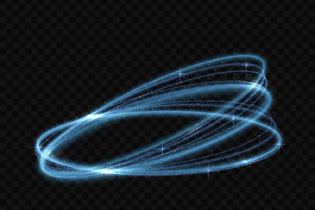 Effetto di tracciamento della luce al neon del cerchio di vettore
