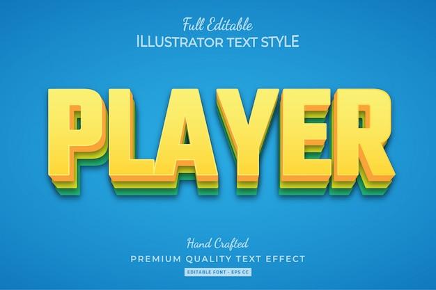 Effetto dorato di stile del testo 3d