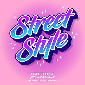 Effetto font colorato moderno per la cultura giovanile