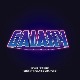 Effetto font galaxy per adesivo e titolo
