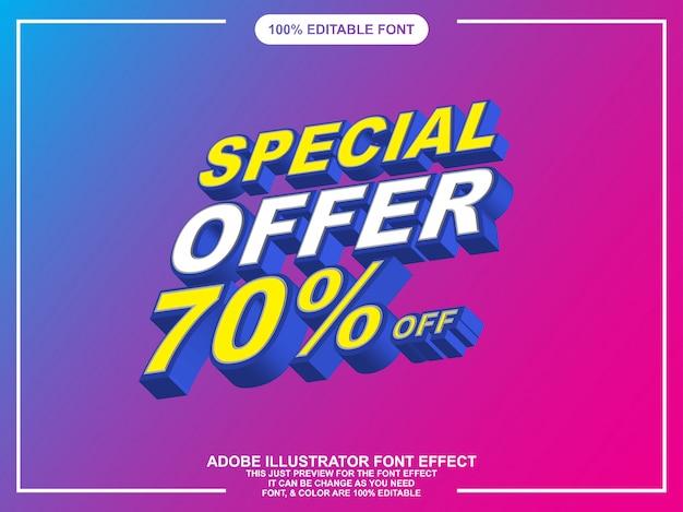 Effetto font isometrico modificabile stile grafico font