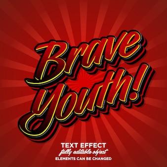 Effetto font moderno per la cultura giovanile