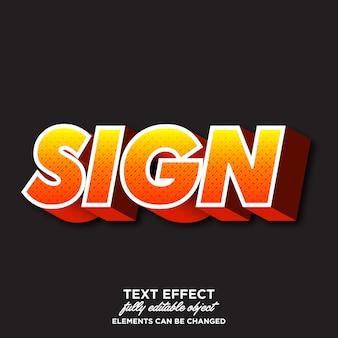 Effetto font moderno per progetti di adesivi
