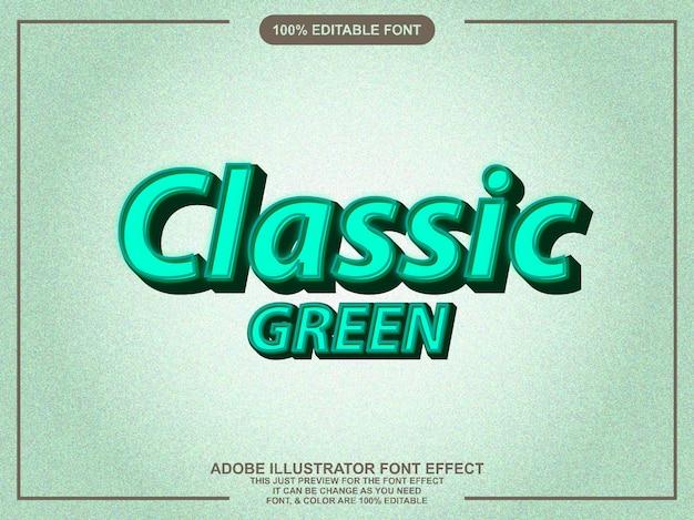 Effetto font retrò di stile grafico modificabile verde