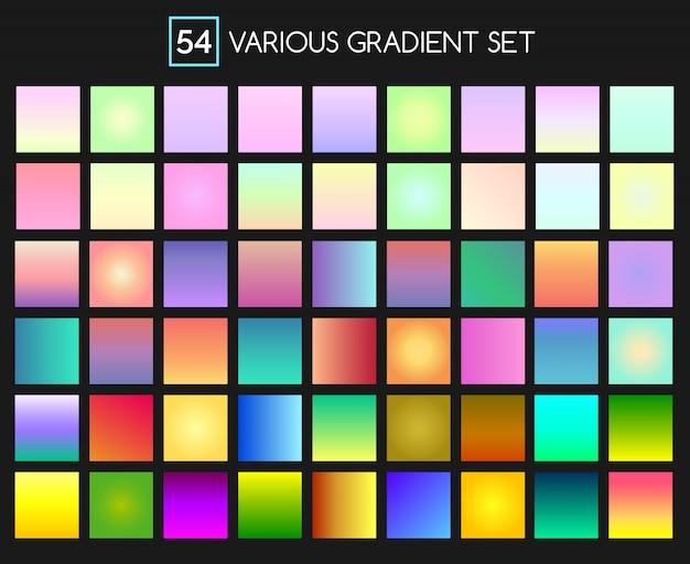 Effetto gradiente multicolore impostato per gli sfondi