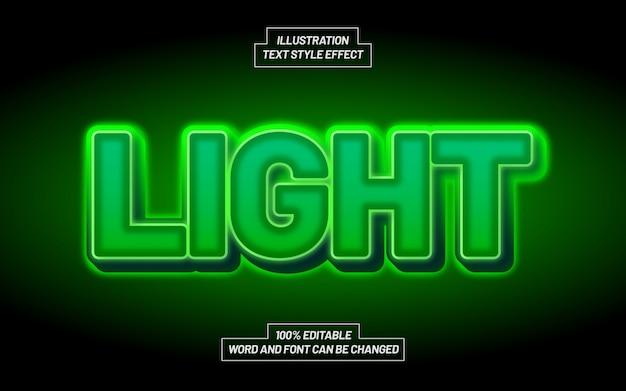 Effetto grassetto moderno di stile del testo della luce verde