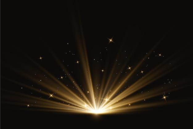 Effetto luce alba astratta