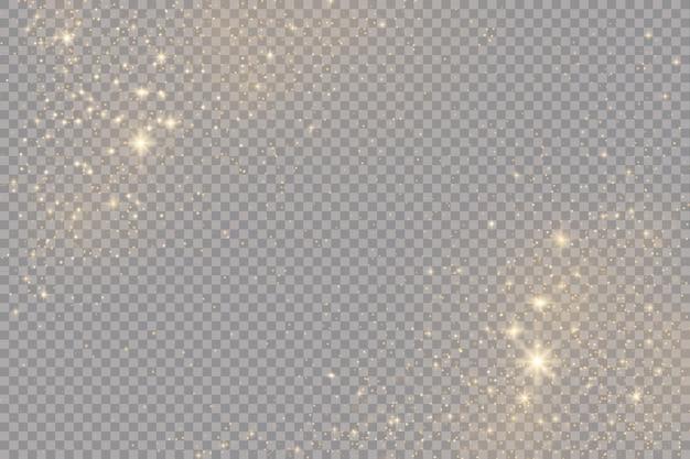 Effetto luce bagliore. flash natalizio. polvere