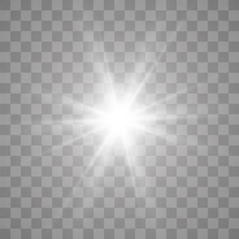 Effetto luce bagliore. stella scoppiata di scintillii.