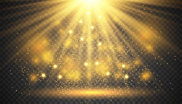 Effetto luce bagliore trasparente