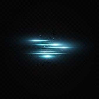 Effetto luce blu. raggi laser astratti di luce. effetto luce su bellissimi banner. illustrazione.