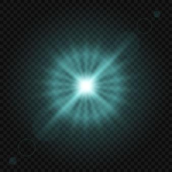 Effetto luce incandescente isolato
