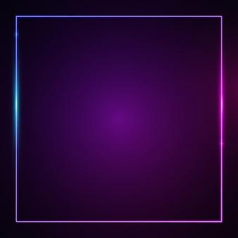 Effetto luce incandescente quadrato.