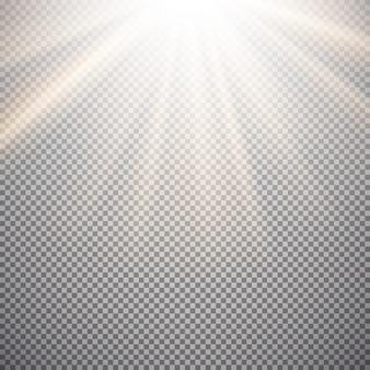 Effetto luce su sfondo trasparente