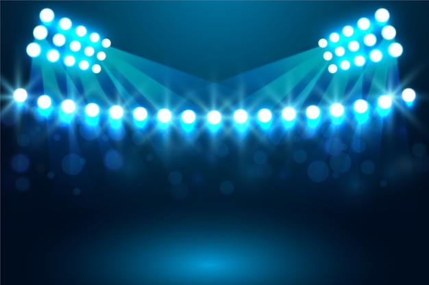 Effetto luminoso dello stadio