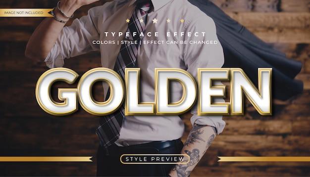 Effetto metallo dorato stile testo
