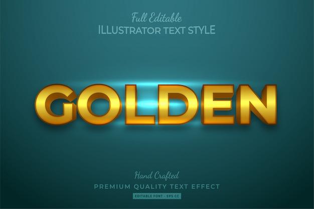 Effetto modificabile dorato in stile testo 3d premium