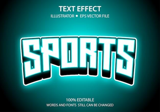Effetto modificabile in stile testo glow sports premium
