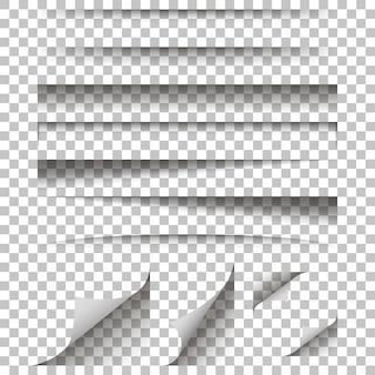Effetto ombra di carta su uno sfondo isolato