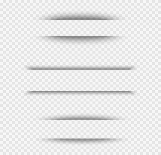 Effetto ombra foglio di carta