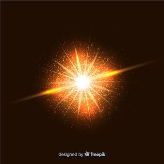 Effetto particellare astratto esplosione appariscente