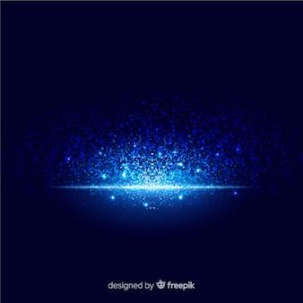 Effetto particellare blu esplosione